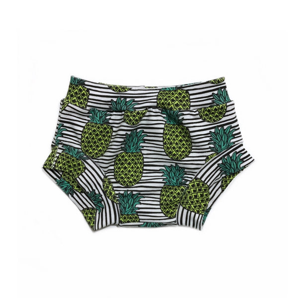 Striped Pineapple Shorts & Bummies