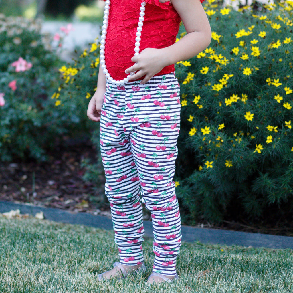 Cherry Stripe Leggings