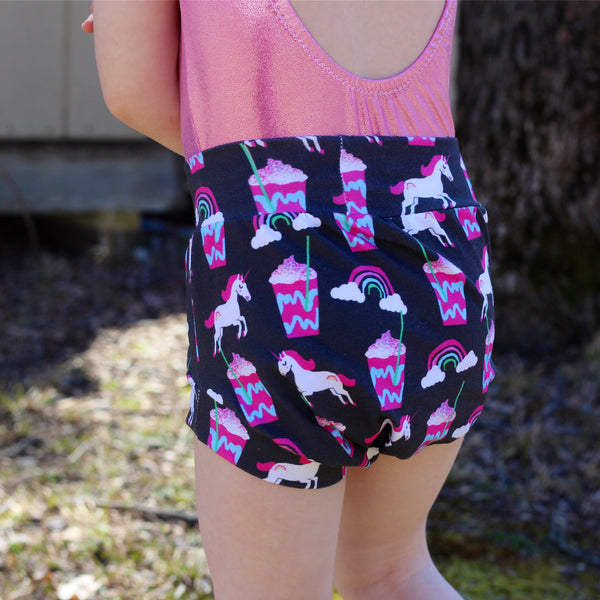 Unicorn Frappe Shorts & Bummies