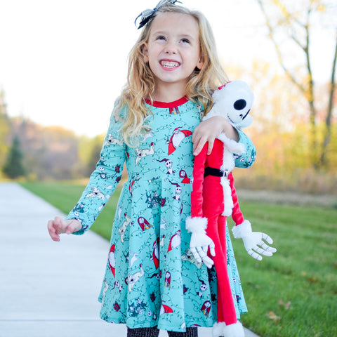 Holiday Nightmare Twirl Dress
