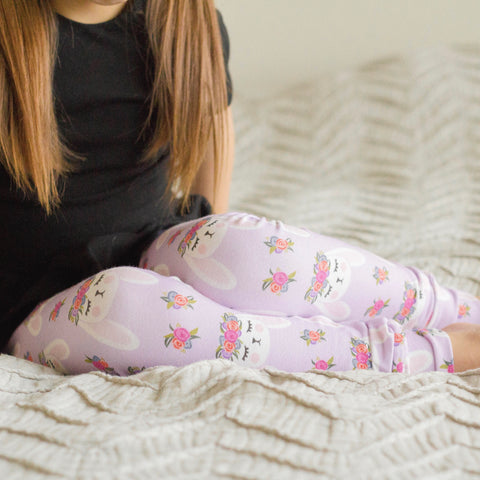 Flower Crown Bunny Leggings