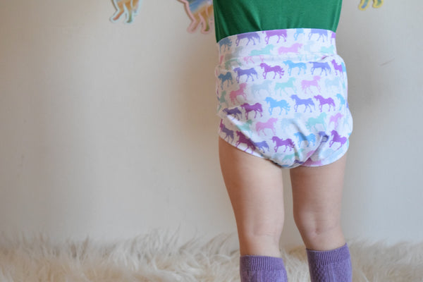 Pastel unicorn Shorts & Bummies