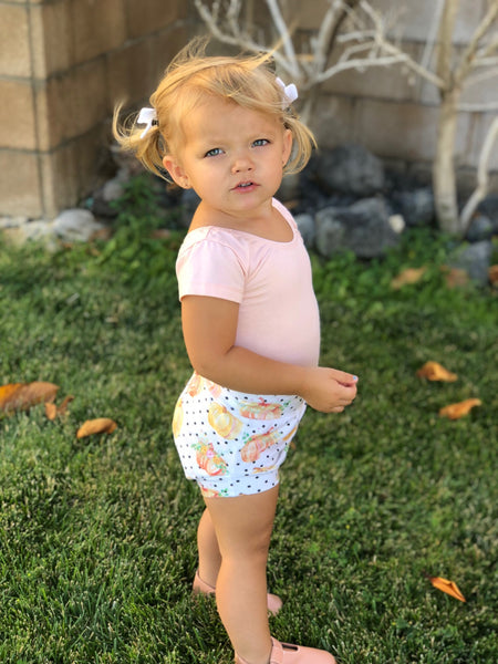 Polka dot pumpkin Shorts & Bummies