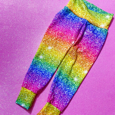 Rainbow Glitter leggings