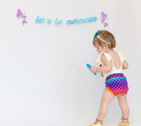 Rainbow Mermaid Shorts & Bummies