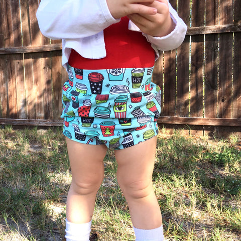 Christmas coffee shorts and bummies