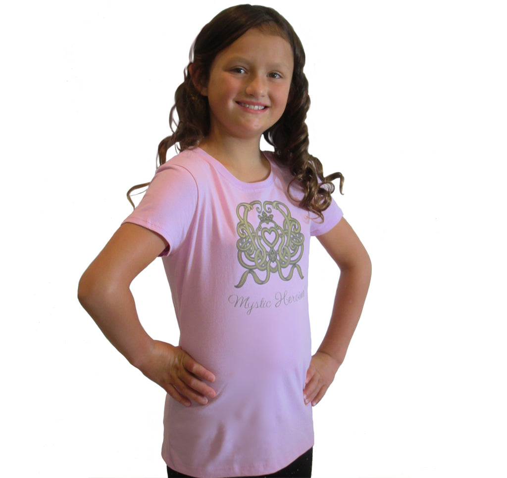 "Girl's Lilac ""Heart Ties"" Tee"