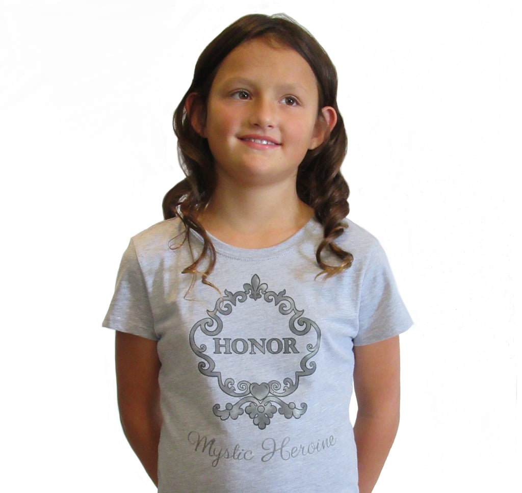 "Girl's Gray ""Honor"" Tee"
