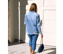 Load image into Gallery viewer, Never Distressed Denim Shirt