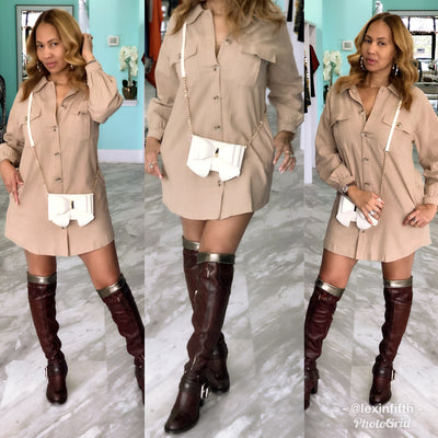 Utility Shirt Dress - Shop Luxe Dolls