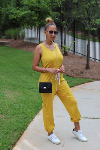 Mustard Seed Jogger Jumpsuit - Shop Luxe Dolls