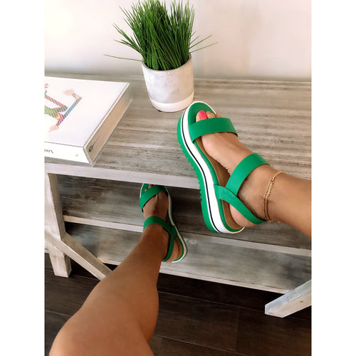 Green With Envy Sandals - Shop Luxe Dolls