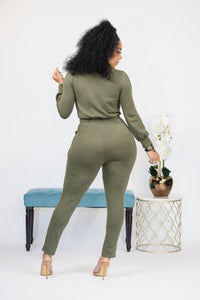 My Type Jumpsuit- Olive
