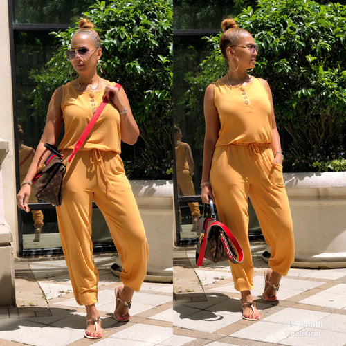Take A Walk Jogger Jumpsuit - Shop Luxe Dolls