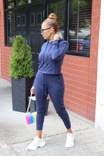 Load image into Gallery viewer, Sporty Blue Lounge Jogger Set