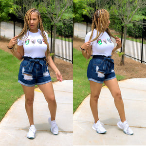 It's In The Bag Denim Shorts - Shop Luxe Dolls