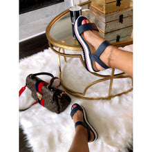 Load image into Gallery viewer, Blues Clues Stripe Sandals - Shop Luxe Dolls