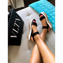 Load image into Gallery viewer, Black Out Stripe Sandal - Shop Luxe Dolls