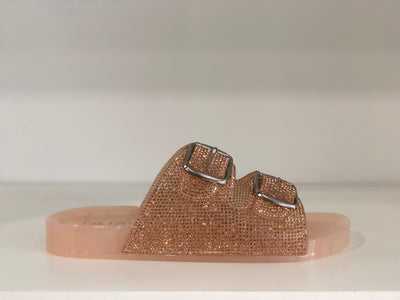 Sparkle Rose Slides