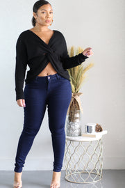 Mid Knot Hour Sweater - Shop Luxe Dolls