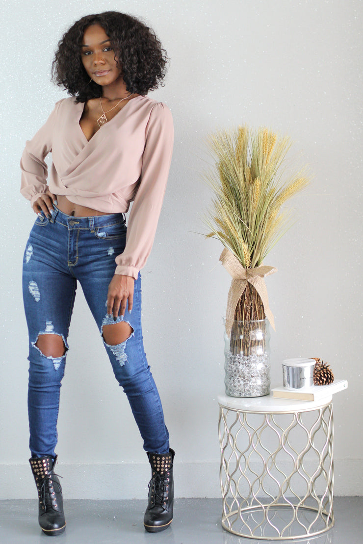 The Wrap Around Town Blouse - Shop Luxe Dolls
