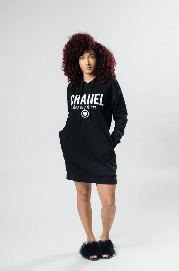 Chanel Me Hooded Sweater Dress - Shop Luxe Dolls