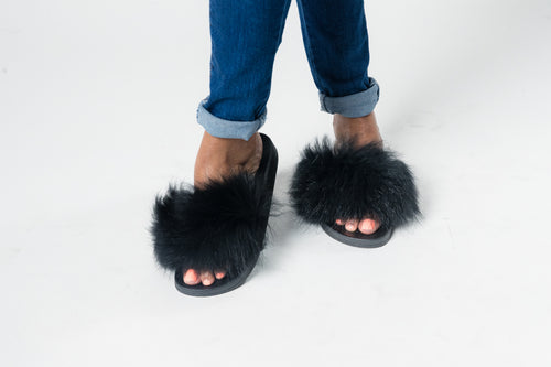 Furry and Chill Slides - Shop Luxe Dolls