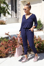 Load image into Gallery viewer, Nueva Navy Jumpsuit