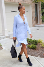 Load image into Gallery viewer, Sky Bluez Shirt Dress