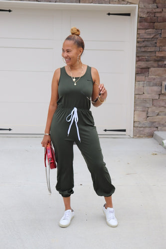 The Olive Jogger Jumpsuit - Shop Luxe Dolls