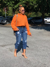 Load image into Gallery viewer, Cozy Crop Sweater - Orange