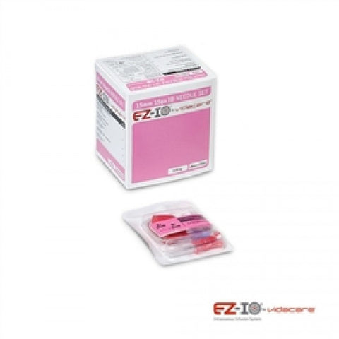 EZ-IO 15MM PD NEEDLE SET (BOX OF 5, PINK) - NSN: 6515-01-537-9013