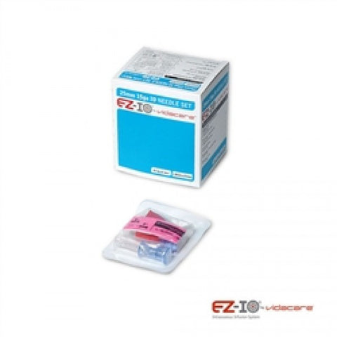 EZ-IO 25MM AD NEEDLE SET (BOX OF 5, BLUE) - NSN: 6515-01-537-9007