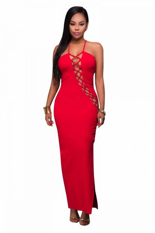 BANDAGE HOLLOW OUT DRESS