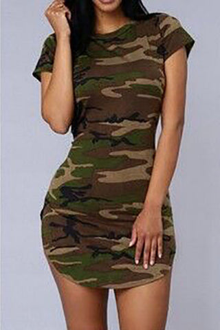 CAMOUFLAGE SIDE SPLIT SHIRT