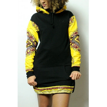BLACK AND YELLOW HOODIE