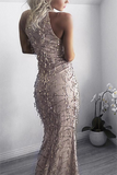 CHIC SLEEVELESS SEQUIN DRESS