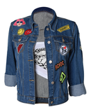 DENIM JACKET WITH CARTOON DESIGN