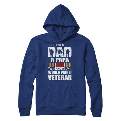 A Dad A Papa And A World War II Veteran Fathers Day T-Shirt & Hoodie | Teecentury.com