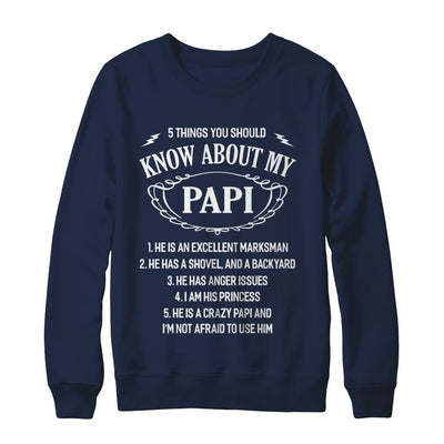 5 Things You Should Know About My Papi Granddaughter T-Shirt & Sweatshirt | Teecentury.com