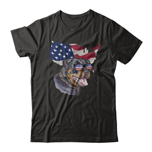 Funny Patriot Rottweiler Dog 4Th Of July American Flag T-Shirt & Hoodie | Teecentury.com