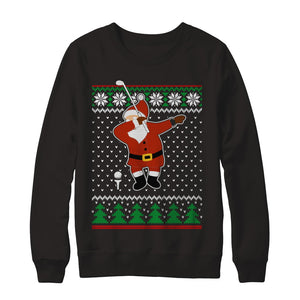Dabbing Santa Golf Ugly Sweater Christmas T-Shirt & Sweatshirt | Teecentury.com