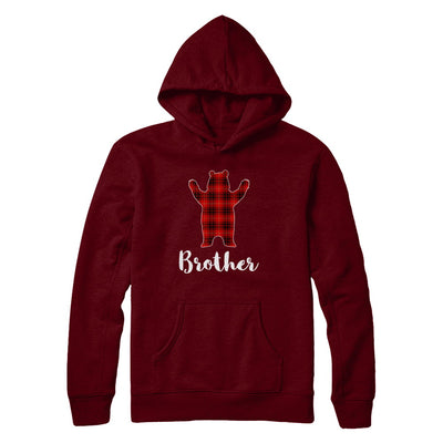 Red Brother Bear Buffalo Plaid Family Christmas Pajamas T-Shirt & Sweatshirt | Teecentury.com
