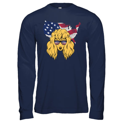 Funny Patriot Poodle Dog 4Th Of July American Flag T-Shirt & Hoodie | Teecentury.com