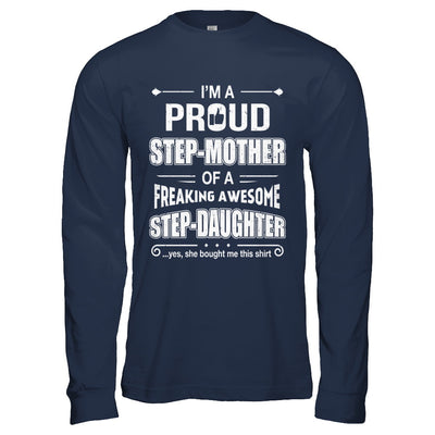 I'm A Proud Step-Mom Of Awesome Step-Daughter Mothers Day T-Shirt & Hoodie | Teecentury.com