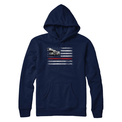 Patriotic Fireman American Flag Thin Red Line Firefighter T-Shirt & Hoodie | Teecentury.com