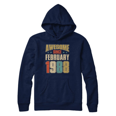 Vintage Retro Awesome Since February 1988 32th Birthday T-Shirt & Hoodie | Teecentury.com