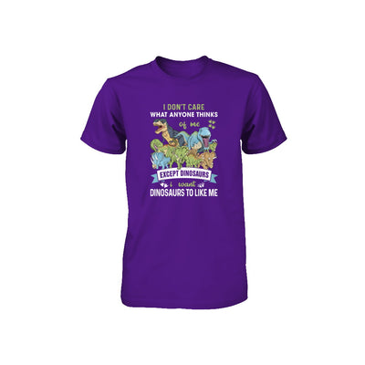 I Don't Care Except Dinosaurs Want Dinosaurs To Like Me Youth Youth Shirt | Teecentury.com