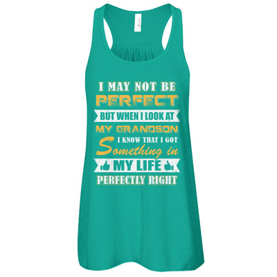 I May Not Be Perfect But When I Look At My Grandson T-Shirt & Tank Top | Teecentury.com