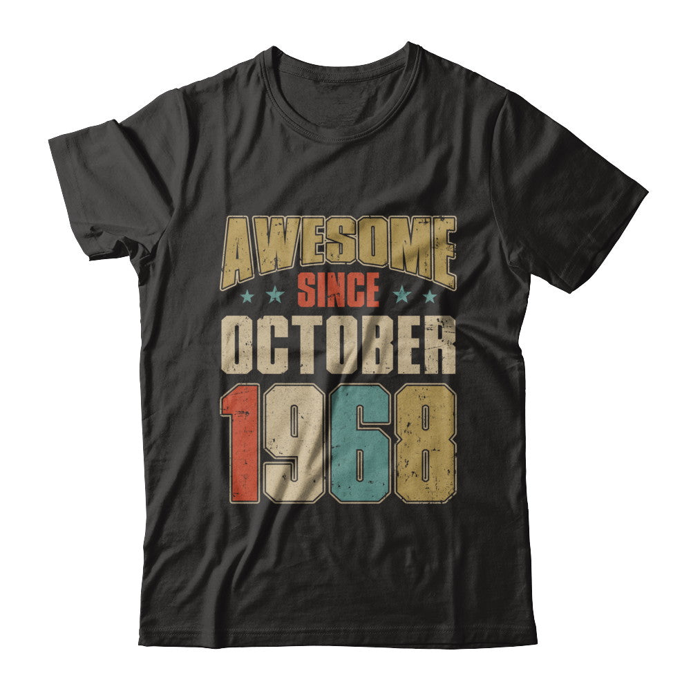 a61a4190 Vintage Retro Awesome Since October 1968 51Th Birthday Shirt ...